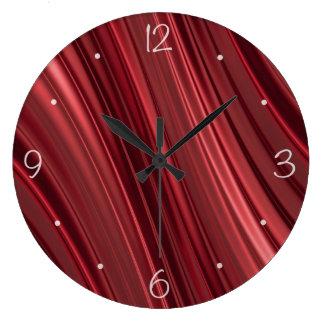 Red black shaded stripes clocks