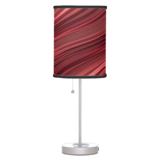 Red black shaded stripes table lamp