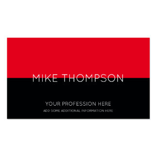 red & black, simple, cool & modern business card