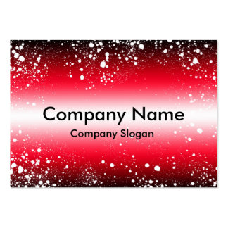 Red Black Spots Large Business Card