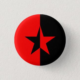 Red/Black Star 1 Inch Round Button