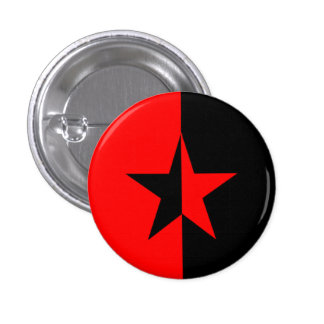 Red/Black Star 1 Inch Round Button