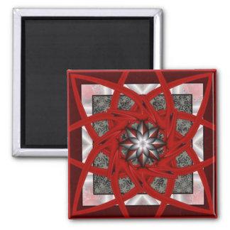 Red Black Star 2 Magnet