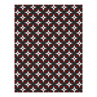 Red & Black Stargazer Scrapbook Craft Paper Pages