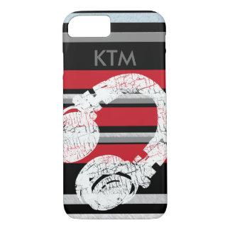 red black stripes & headphone iPhone 7 case