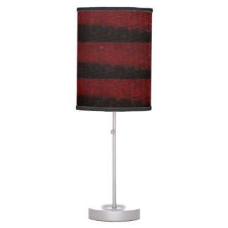 Red & Black stripes Lamp Shade
