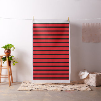 "RED BLACK STRIPS  Combed Cotton (56"" width) Fabric"