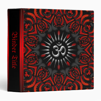 Red+Black Tribal Aum Om Album Binder