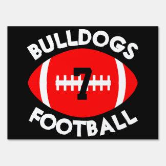 Red & Black Varsity Football Team, Player & Number Sign