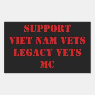 Red & Black Viet Nam/Legacy Vets MC Sicker Sticker