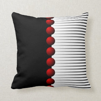 Red Black White and Gray Abstract Throw Pillow