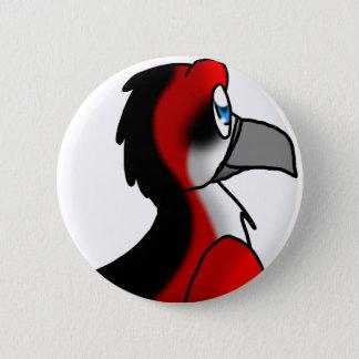 Red/Black/White Bird Hybrid 2 Inch Round Button