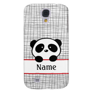 Red Black White Personalized Panda Galaxy S4 Case