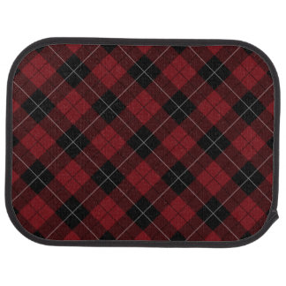 Red Black White Plaid Diagonal Floor Mat