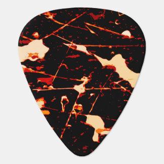 Red Black White Yellow Guitar Pick