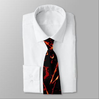Red Black White Yellow Tie