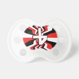 Red, Black, & White Zigzag Burst Printed Pacifier