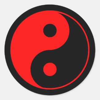 Red & Black Yin Yang Symbol Sticker