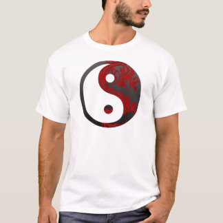 Red Black Ying Yang T-Shirt