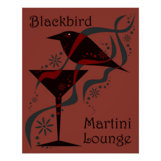 Red Blackbird Martini Lounge Poster