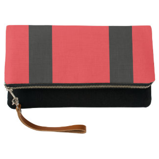 Red-Blackline- Fold-Over Clutch