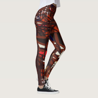 Red, blacks and dark colors wrapped all around you leggings
