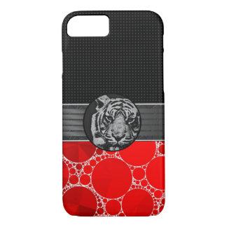 Red Bling Black Tiger iPhone 7 Case