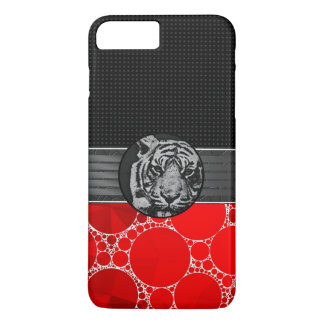 Red Bling Black Tiger iPhone 7 Plus Case