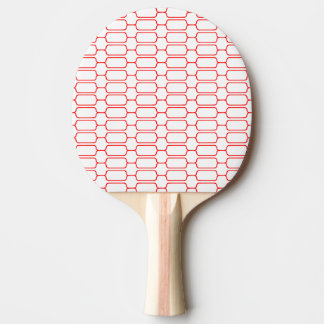 Red blocks ping pong paddle