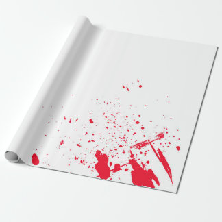 Red Blood Splatter Wrapping Paper