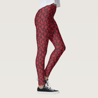 Red Blooms Leggings