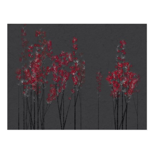 Red Blossom Forest Postcard
