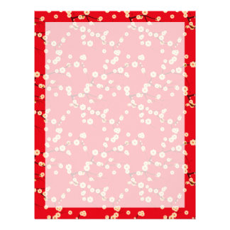 Red Blossoms Letterhead