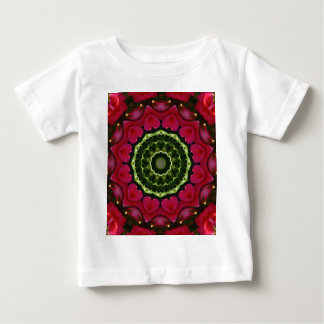 Red Blossoms Nature, Flower-Mandala Baby T-Shirt