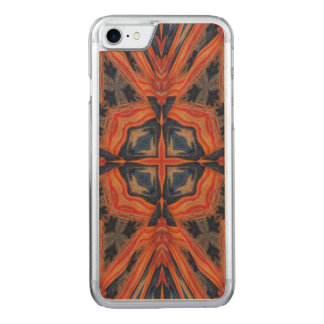 Red & Blue Abstract Pattern Carved iPhone 7 Case