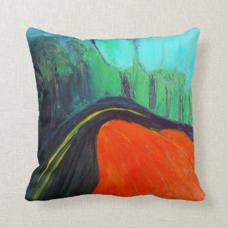 Red, Blue and Black Pillow