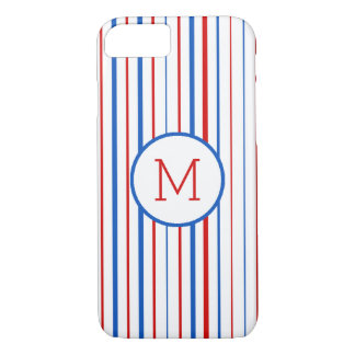 Red  Blue and White American Stripes Case-Mate iPhone Case