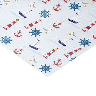Red, Blue and White Nautical Tissue Paper