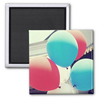 Red & Blue Balloons Photograph Magnet