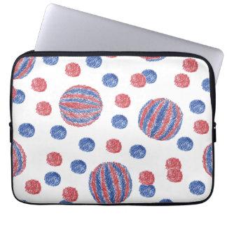 Red Blue Balls Laptop Sleeve 13''