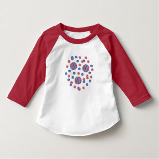Red Blue Balls Toddler Raglan T-Shirt