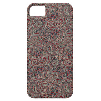 Red Blue Beige Paisley iPhone 5 Cases