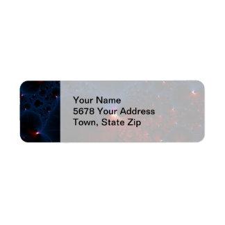 Red Blue Cells Fractal Art Return Address Label