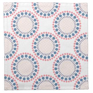 Red & Blue Circles Cloth Napkins