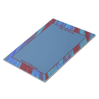 Red Blue Color Swish Abstract Notepads