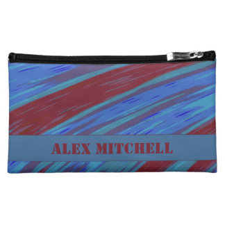 Red Blue Color Swish Cosmetics Bags