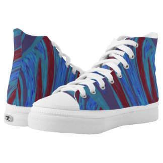 Red Blue Color Swish High Tops