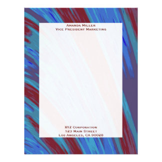 Red  Blue Color Swish Letterhead
