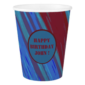 Red Blue Color Swish Paper Cup