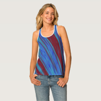 Red Blue Color Swish Tank Top